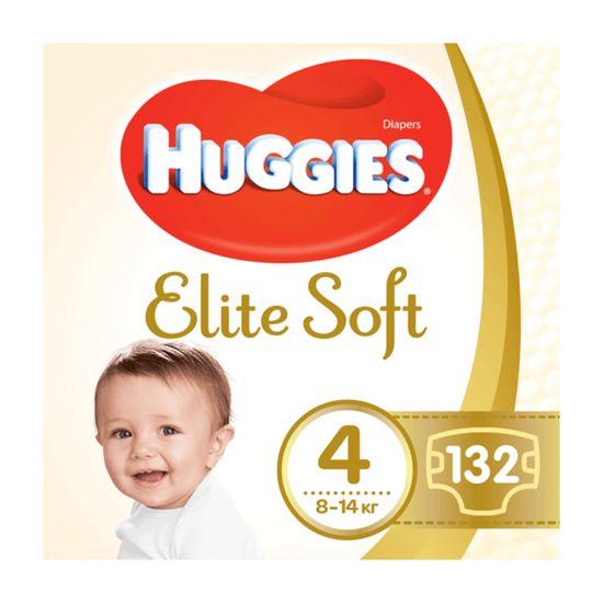 Подгузники Huggies Elite Soft, размер 4, 8-14 кг, 132 шт, арт. 5029054566220