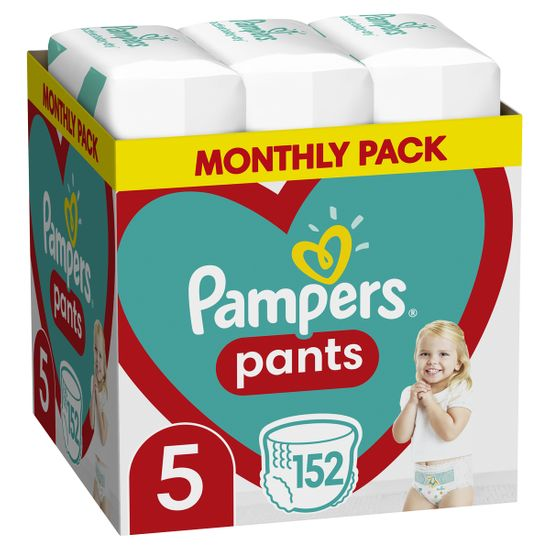 Подгузники-трусики Pampers Pants, размер 5, 12-17 кг, 152 шт, арт. 8006540068601