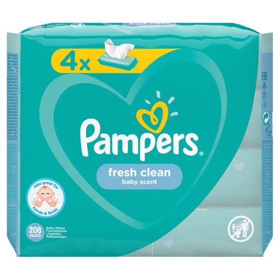 Детские влажные салфетки Pampers Fresh Clean, 4 уп.х52 шт, арт. 8001841077949
