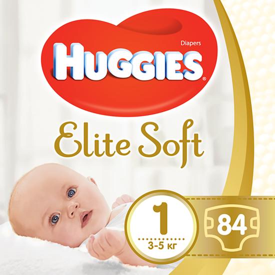 Подгузники Huggies Elite Soft, размер 1, 3-5 кг, 84 шт, арт. 5029053547947