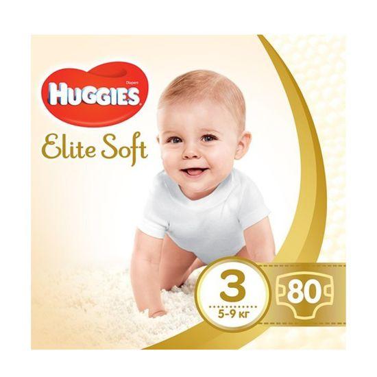 Подгузники Huggies Elite Soft, размер 3, 5-9 кг, 80 шт, арт. 5029053545295