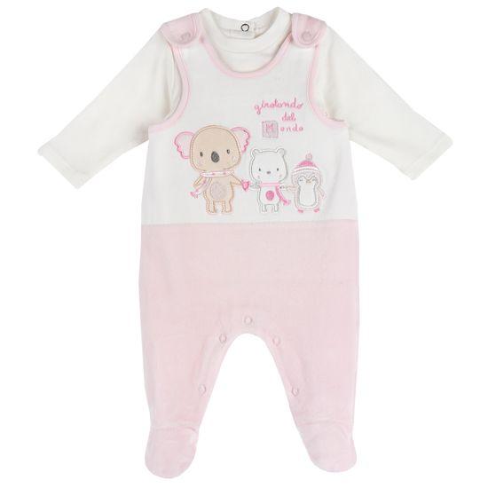Комплект Chicco Embrace: боди и полукомбинезон, арт. 090.07407.011, цвет Розовый