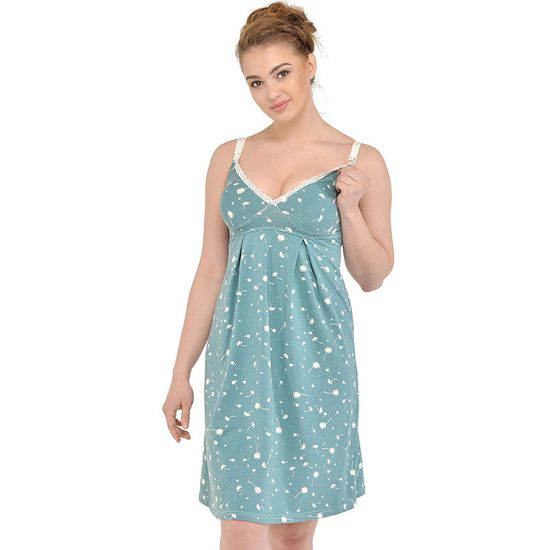 Ночная рубашка Мамин Дом Mint , арт. 24168.1, цвет Бирюзовый