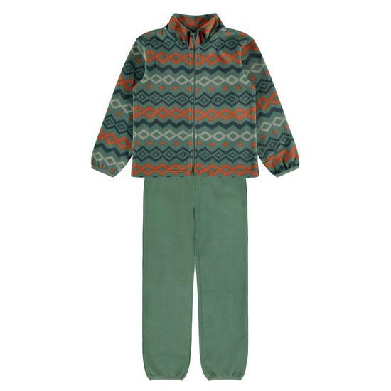 Флисовый костюм Name it Sunset: кардиган и брюки, арт. 213.13191785.DGRE, цвет Зеленый