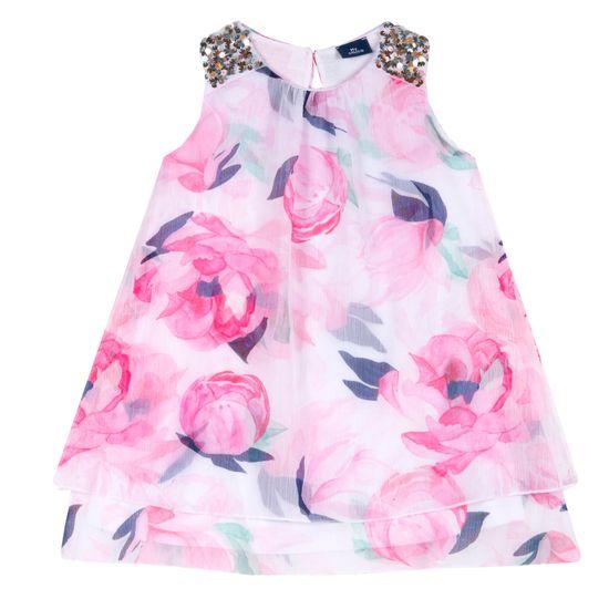 Платье Chicco Peonies, арт. 090.03925.031, цвет Розовый