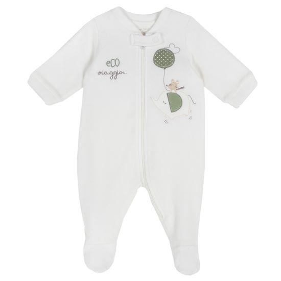 Комбинезон флисовый Chicco Baby elephant, арт. 090.02034.030, цвет Белый
