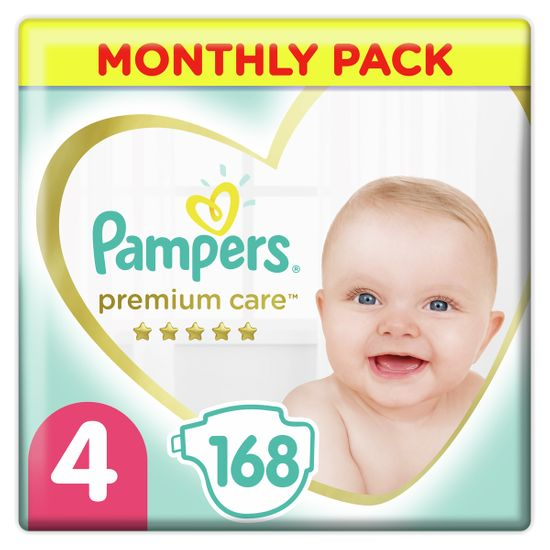 Подгузники Pampers Premium Care, размер 4, 9-14 кг, 168 шт, арт. 8001090379511