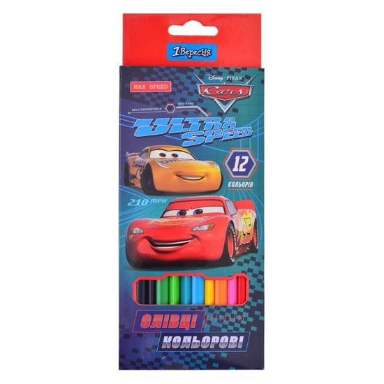 "Карандаши 1Вересня ""Cars"", 12 цв., арт. 290536"