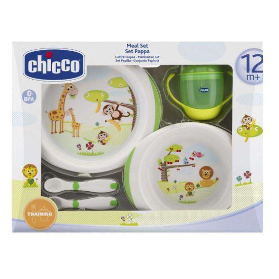 Набор: тарелки, чашка, ложка и вилка Chicco, 12м+, арт. 06833