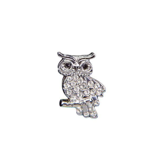 """Эмодзи Tinto """"Silver owl"""", арт. AC2240.1, цвет Серебряный"""