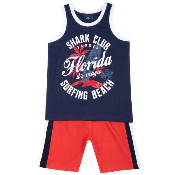 Костюм Chicco Shark club: майка и шорты, арт. 090.76536.071, цвет Красный с синим