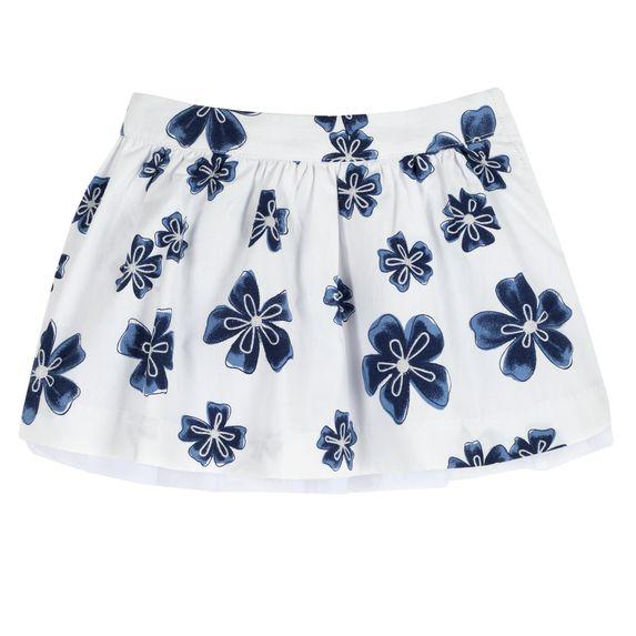 Юбка Chicco Blue flower, арт. 090.34487.038, цвет Синий с белым