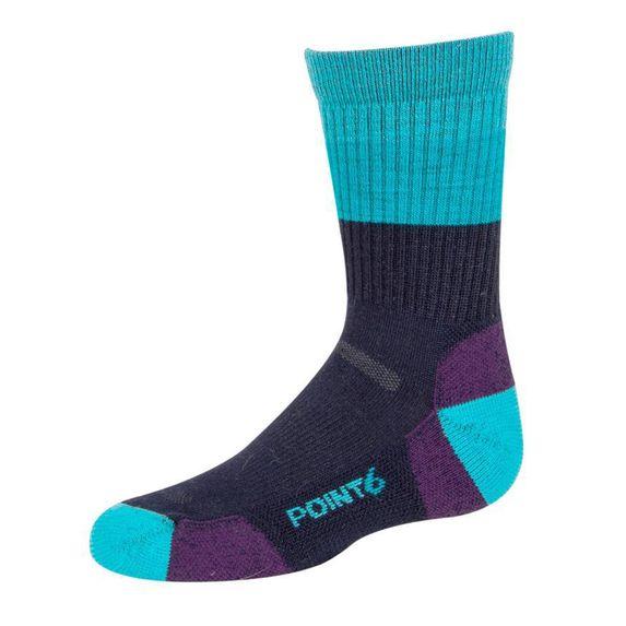 Термоноски Point6 Stripe Black, арт. 4538-233.193, цвет Голубой