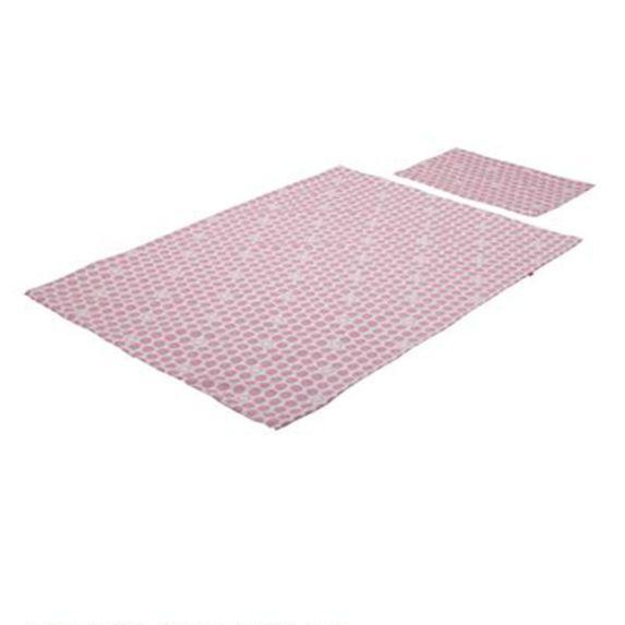 Постельный комплект Stokke для кроватки: пододеяльник и наволочка, арт. 1057, цвет Розовый