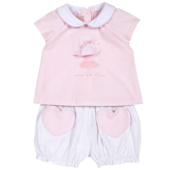 Костюм Chicco Osiria: футболка та шорты, арт. 090.76427.031, цвет Розовый