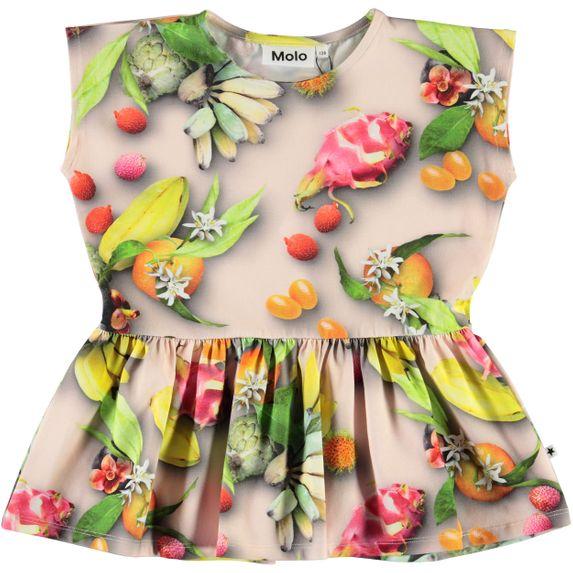 Футболка Molo Rayna Tutti Frutti, арт. 2S20A216.6046, цвет Зеленый с желтым