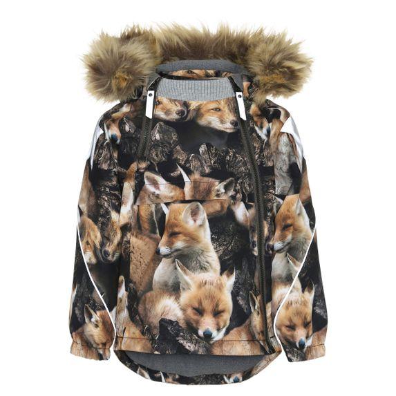 Термокуртка Molo Hopla Fur Fox, арт. 5W19M301.4869, цвет Коричневый