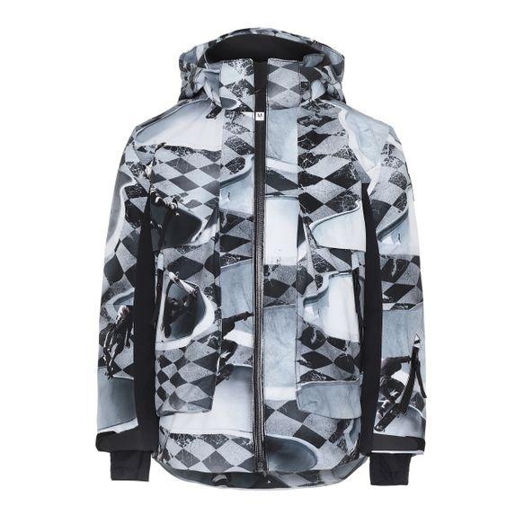 Термокуртка горнолыжная Molo Alpine Check Pools, арт. 5W19M306.4864, цвет Серый