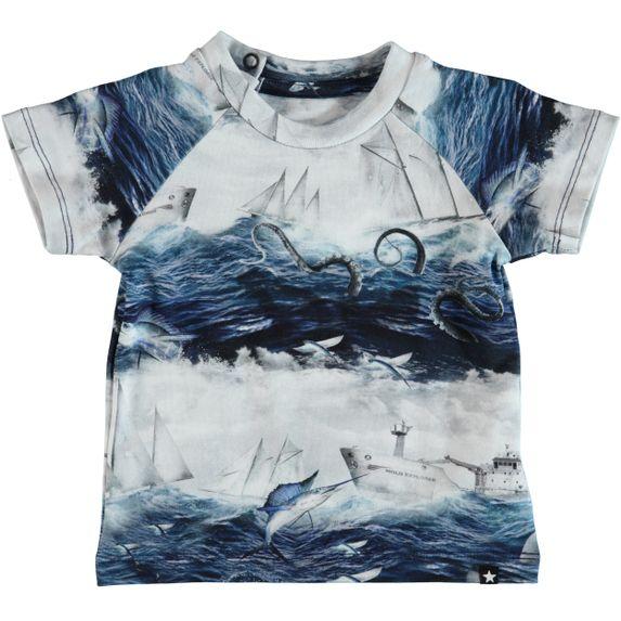 Футболка Molo Emmett Sailor Stripe, арт. 3S19A202.4802, цвет Синий