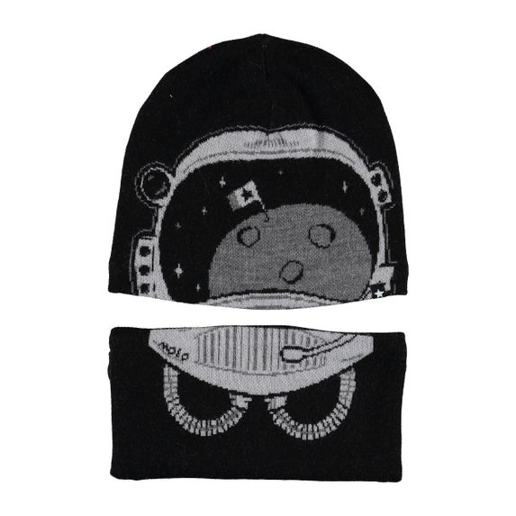 Комплект Molo Kleo Very Black: шапка и шарф-снуд, арт. 7W19S309.2673, цвет Черный
