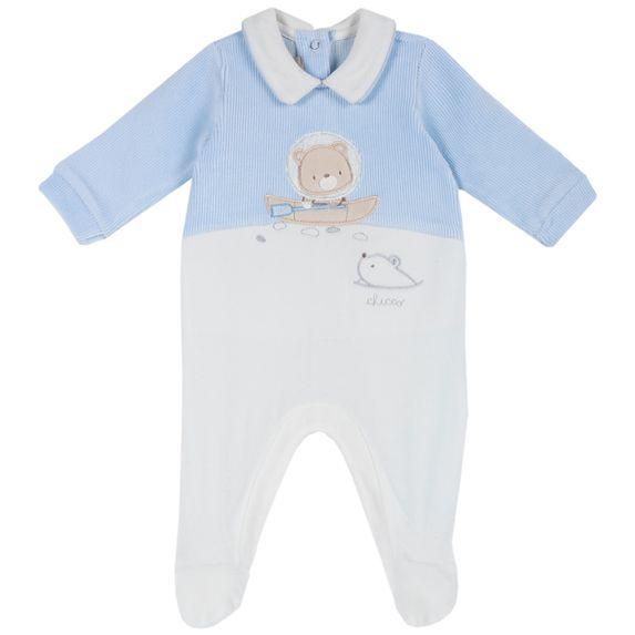 Комбинезон велюровый Chicco Polar bear, арт. 090.02017.021, цвет Голубой