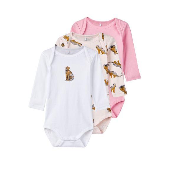 Боди (3 шт) Name it Leopard, арт. 193.13168375.BPIN, цвет Розовый