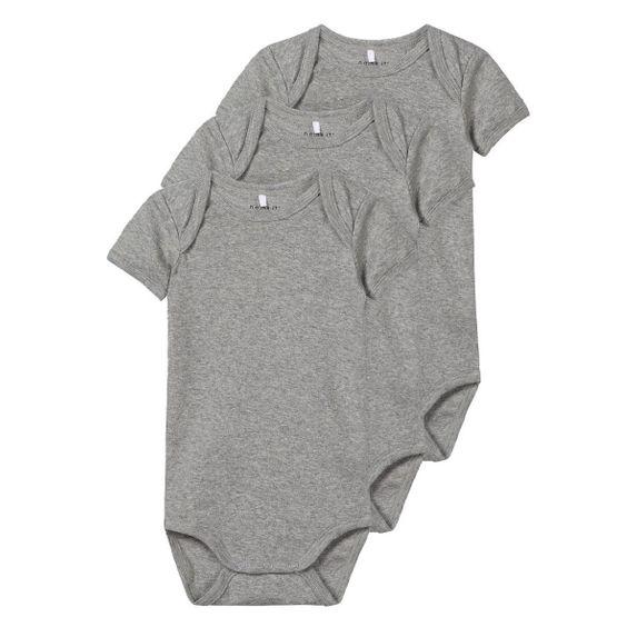 Боди (3 шт) Name it Grey, арт. 193.13165021.GMEL, цвет Серый