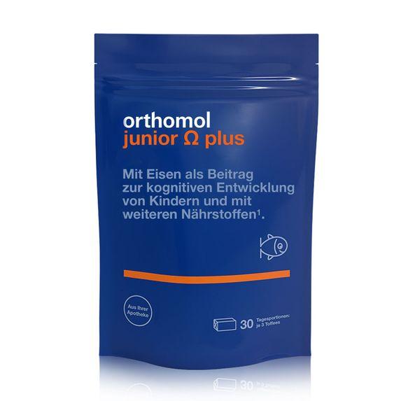 """Витамины для детей Orthomol """"Junior Omega plus"""", 30 дней, жевательные ириски, арт. 11877835"""