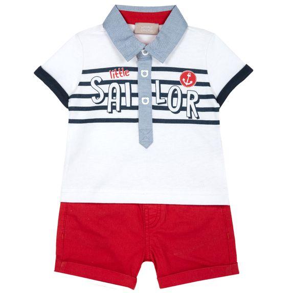 Костюм Chicco Sailing: поло и шорты, арт. 090.76394.071, цвет Красный с белым