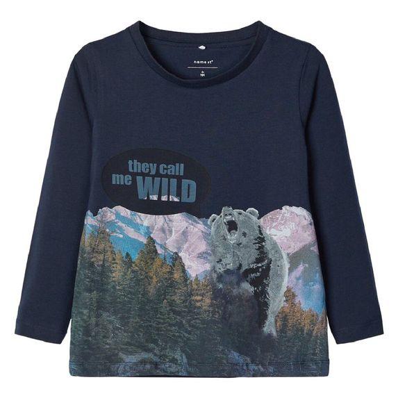 Реглан Name it Wild bear (синий), арт. 193.13168463.DSAP, цвет Синий