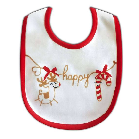 Слюнявчик двусторонний, Chicco Christmas, арт. 55620.00, цвет Красный
