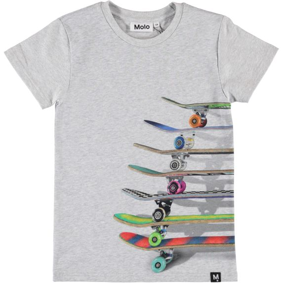 Футболка Molo Raven Stacked Skateboards, арт. 1S20A218.7157, цвет Серый