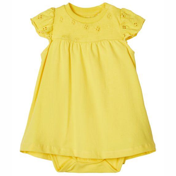 Платье-боди Name it Halla, арт. 203.13176417.AGOL, цвет Желтый
