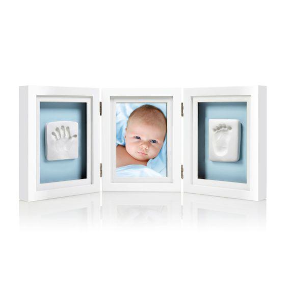 Рамка тройная  для фото и глиняного слепка (белая), арт. P63006, цвет Белый