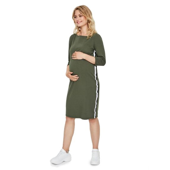 Платье для беременных Mamalicious Thyme, арт. 193.20010638.THYM, цвет Оливковый