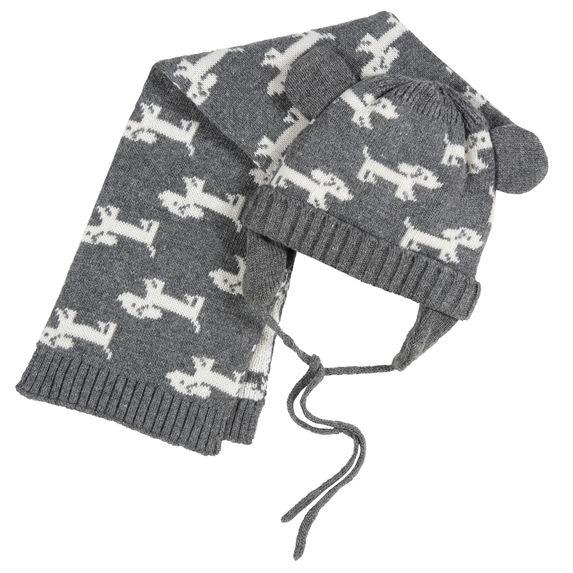 Комплект Chicco Puppies: шапка и шарф , арт. 090.04737.095, цвет Серый