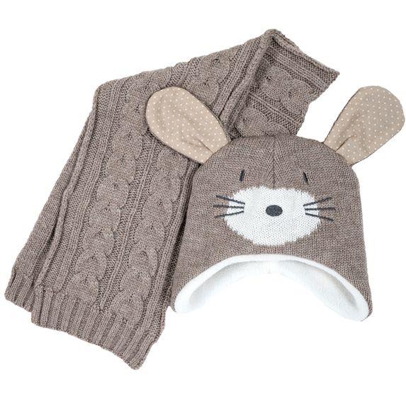 Комплект Chicco Mouse: шапка и шарф, арт. 090.04540.062, цвет Бежевый