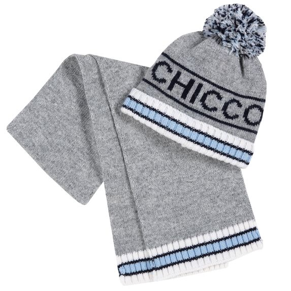 Комплект Chicco Edgar: шапка и шарф , арт. 090.04729.095, цвет Серый