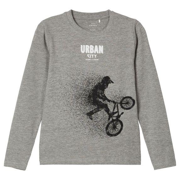 Реглан Name it Urban city, арт. 203.13179180.GMEL, цвет Серый
