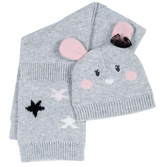 Комплект Chicco Astrid: шапка и шарф , арт. 090.04740.095, цвет Серый