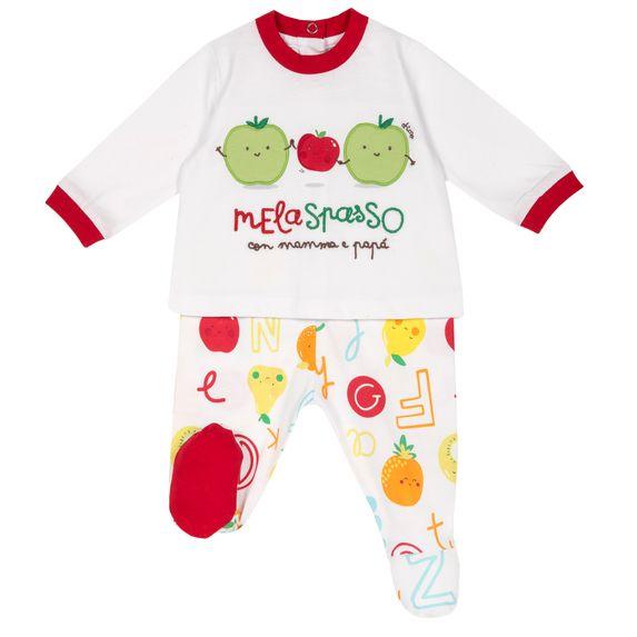 Костюм Chicco Fruit: рубашка и ползунки , арт. 090.76382.064, цвет Красный