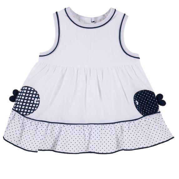 Платье Chicco Small fish, арт. 090.03400.033, цвет Белый