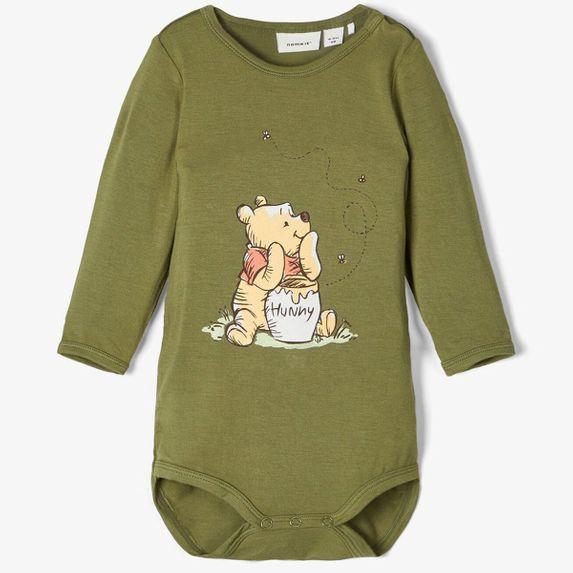 Боди Name it Winnie the Pooh (зеленый), арт. 201.13176568.LGRE, цвет Оливковый