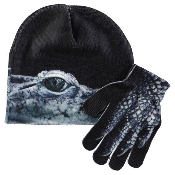 Комплект Molo Kaya Creatures: шапка и перчатки, арт. 7W18S901.5343, цвет Черный