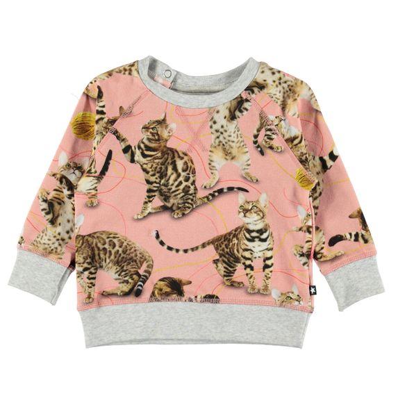 Джемпер Molo Elsa Wannabe Leopard, арт. 4W19A405.4875, цвет Розовый