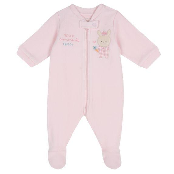 Комбинезон флисовый Chicco Baby rabbit, арт. 090.02034.011, цвет Розовый