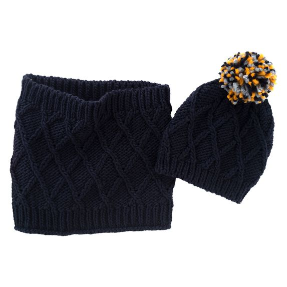 Комплект Chicco Enfield: шапка и шарф, арт. 090.04762.088, цвет Синий