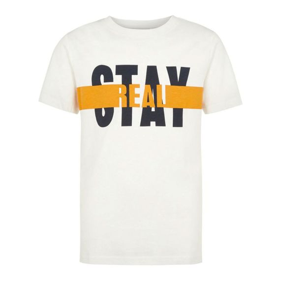 Футболка Name it Stay real, арт. 201.13168884.SWHI, цвет Белый