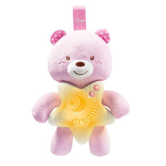 "Игрушка музыкальная Chicco ""Goodnight Bear"", арт. 09156, цвет Розовый"
