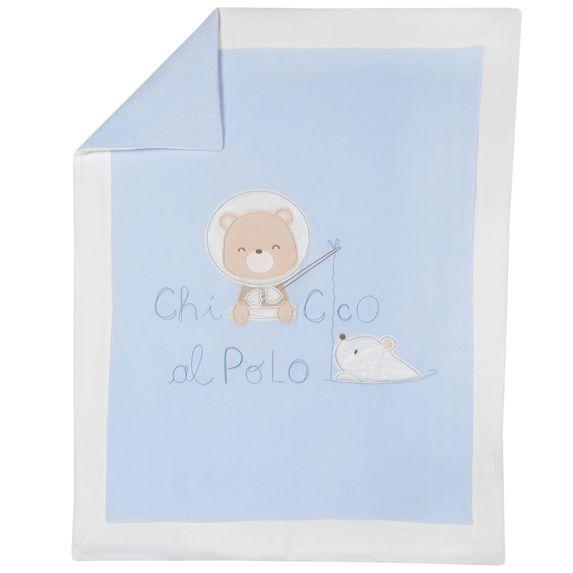Одеяло Chicco Polar bear, арт. 090.05104.021, цвет Голубой